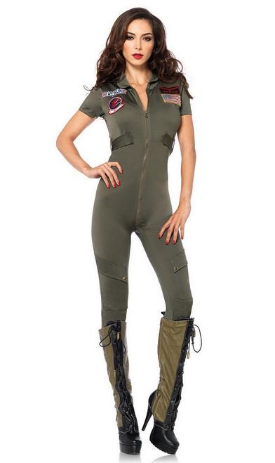 Déguisement du Pilote de Chasse Top Gun pour femme