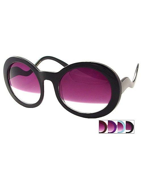 Rétro lunettes rondes teintées