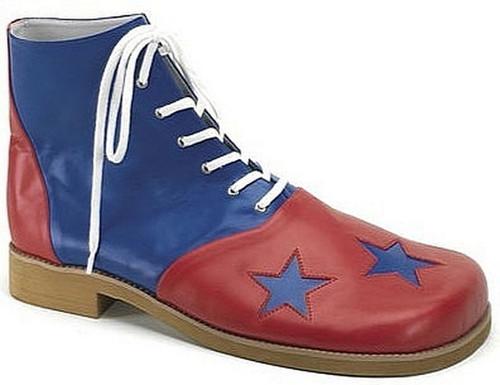 Clown Chaussures bleu et rouge