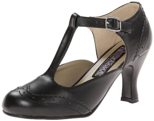 Chaussures noires flapper