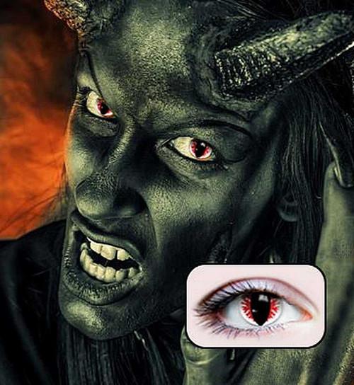 Objectifs diable Contact avec les yeux