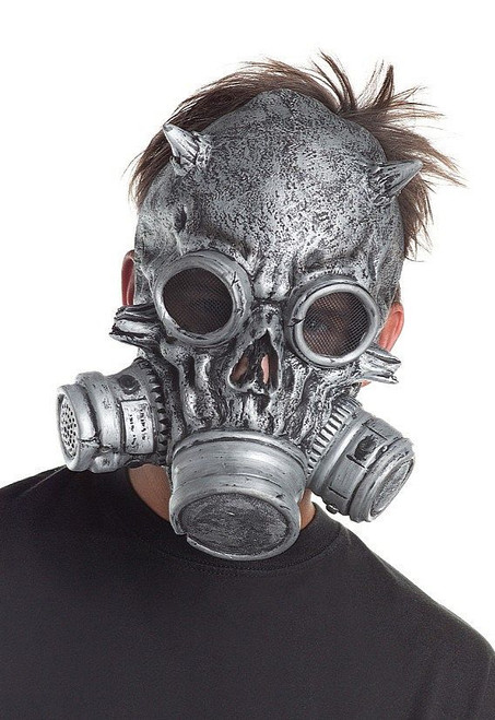 Masque squelette gris gaz