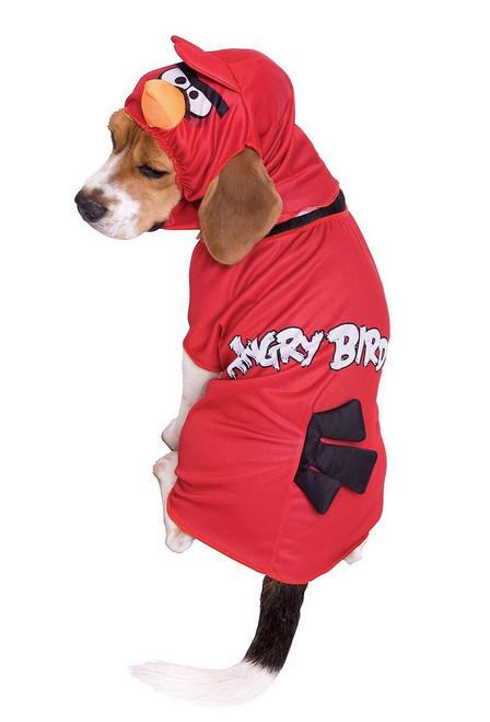 Costume pour Chiens d'Oiseau Rouge des Angry Birds