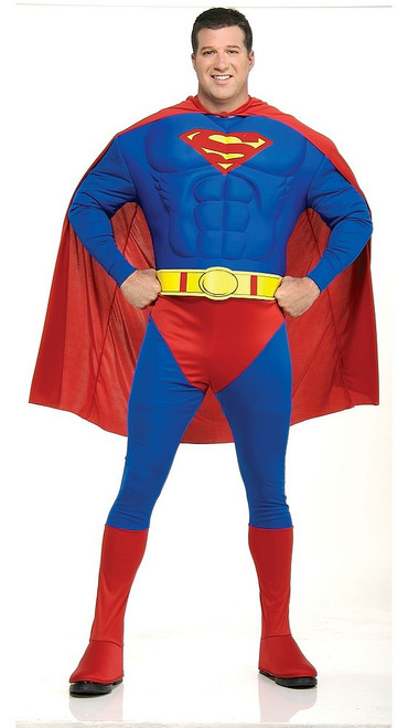 Poitrine Musclée de Luxe Taille Plus de Superman