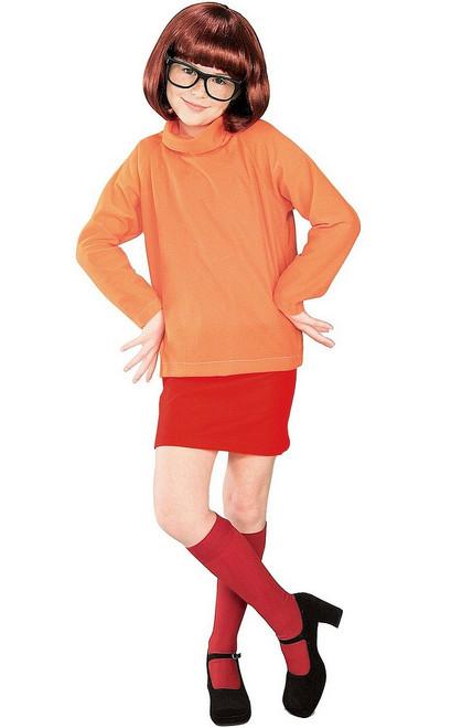 Costume pour fille de Velma de Scooby-doo