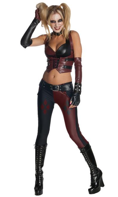 Costume Harley Quinn de Arkham City pour Adulte