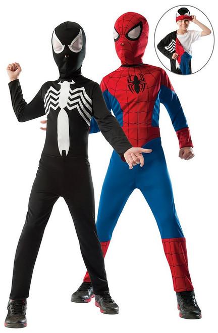 Spiderman Réversible Rouge Au Noir