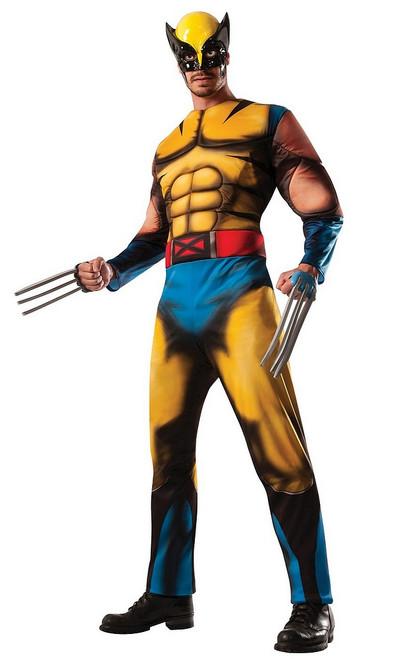 Costume Musclé pour Adultes de Wolverine