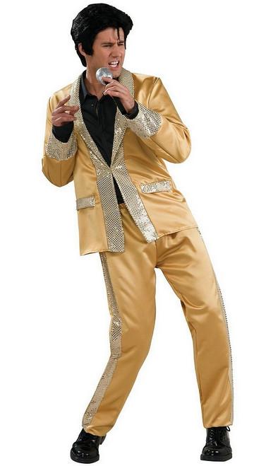 Costume en Satin doré d'Elvis