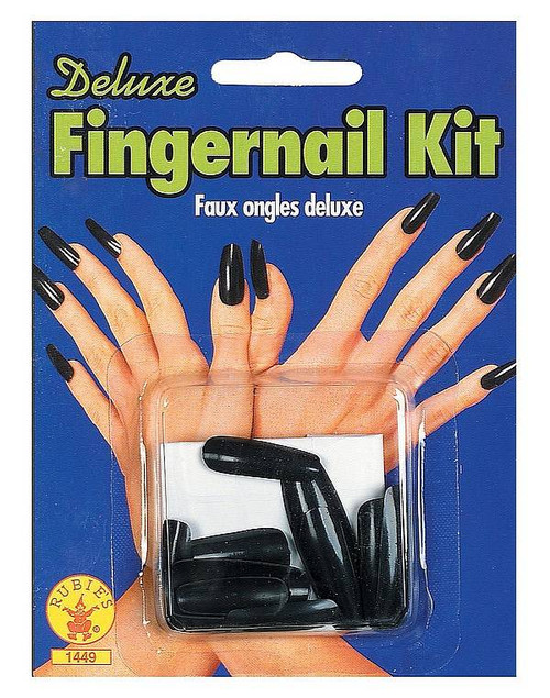 Faux Ongles Noirs Extra Longs