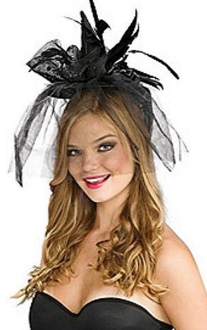 Noir Mini chapeau de sorcière à voile