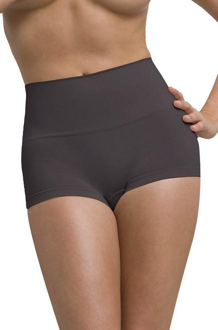 Pantalon taille haute à chaud gris