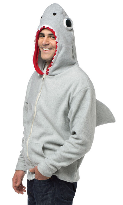Costume Pull-Over à Capuche  de requin pour Adulte