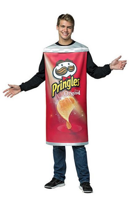 Costume du Tube de Pringles pour Adulte