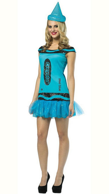 Robe de Crayola en Bleu acier pour femme