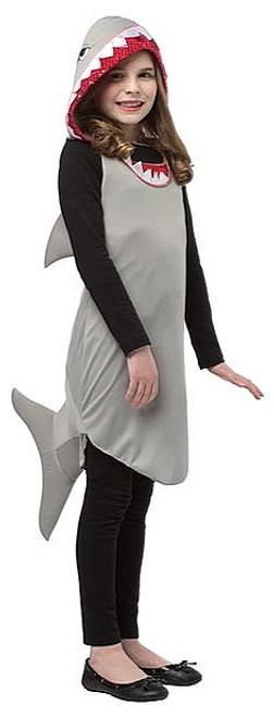 Robe Shark Tween Costume