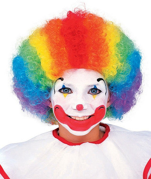Perruque de Clown Multicolore pour Enfant