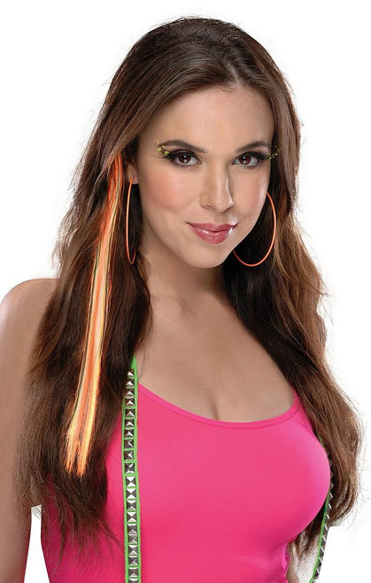 Neon cheveux orange Extension