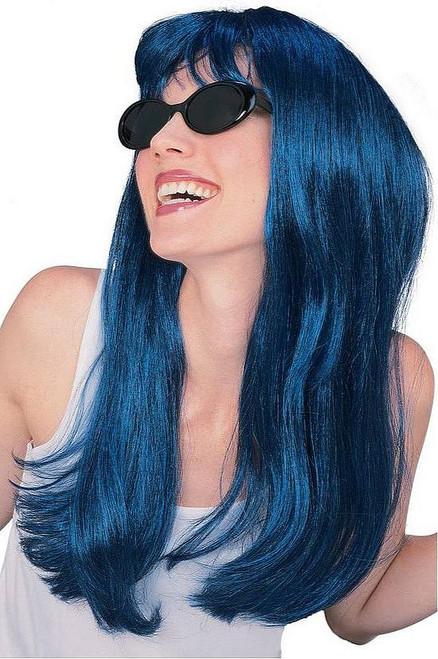Perruque Charmante Blue Noir Longue