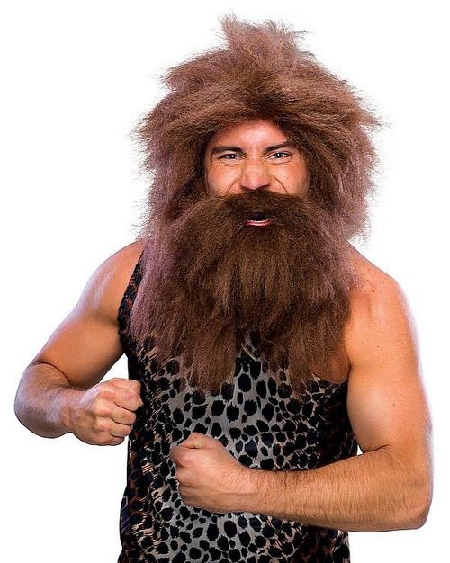 Caveman préhistorique perruque et Barbe