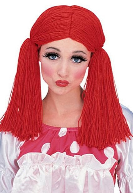 Red Rag Doll perruque