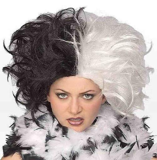 Perruque noir et blanc