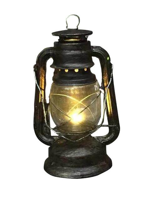 """Light Up Argent Antique Lantern Deluxe Décor 11"""" Zoom"""