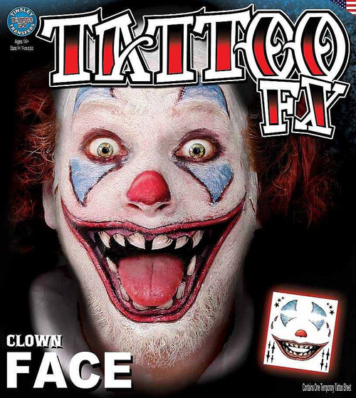 Clown visage Transfert Tatouage