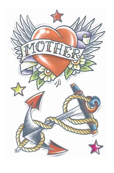 Coeur / Anchor 1950 Tattoo