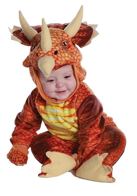 Costume Orangé de Tricératops