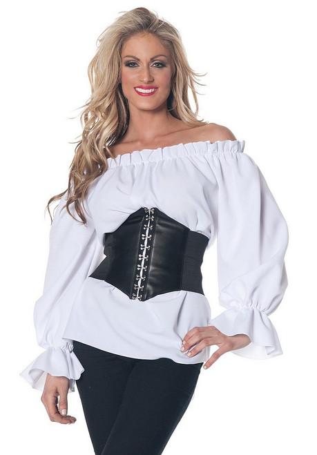 Chemise Blanche de Style renaissance