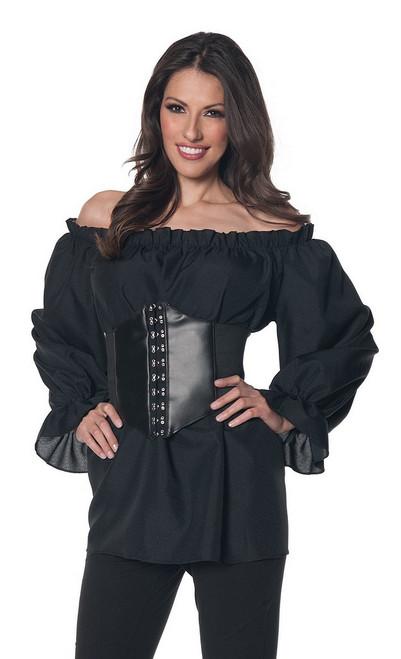 Chemise  de Renaissance à manches noires