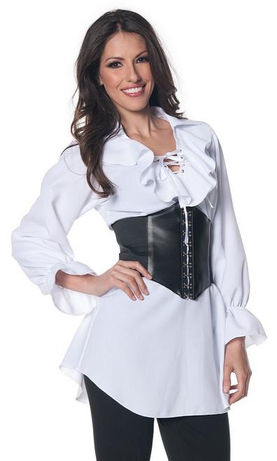 Blouse Blanche de Style Pirate avec Lacets