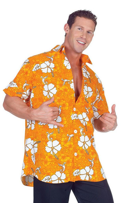Chemise Hawaienne Orange