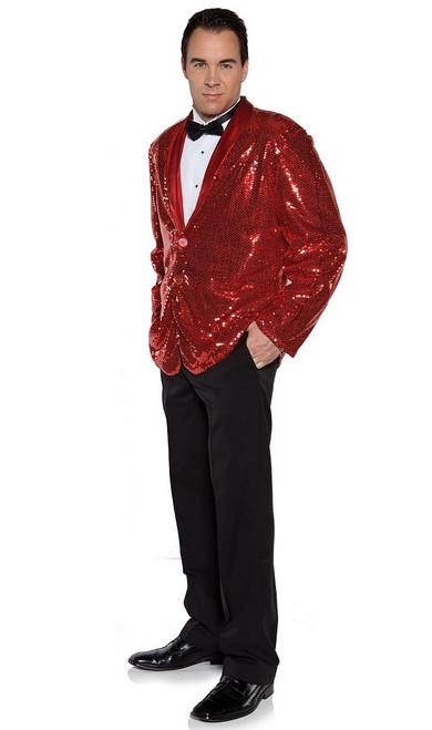 Veste à paillettes rouge