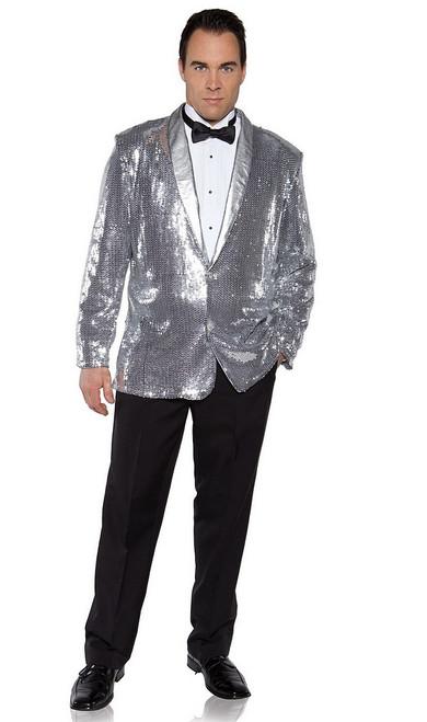 Veste à paillettes argenté