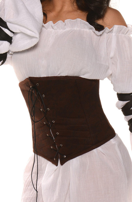 Brown Taille Cincher