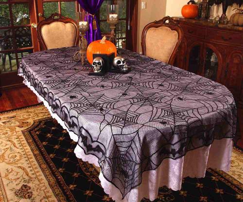 Toile d'araignée de table en dentelle Tissu