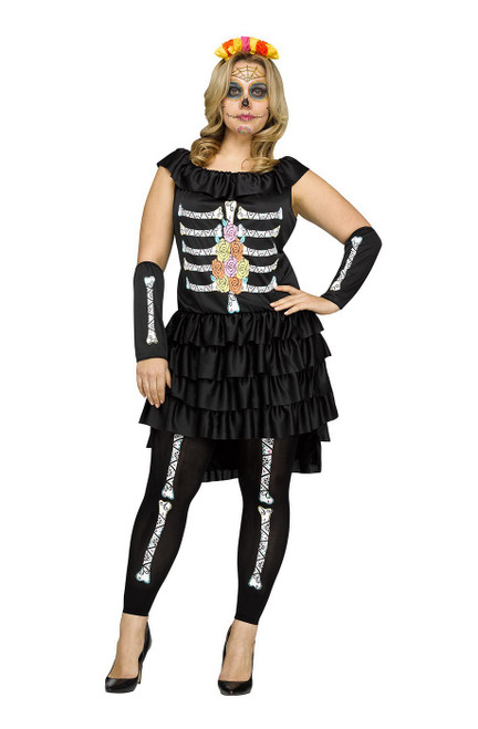 Costume du Dia De Los Muertos pour Adulte Taille Plus