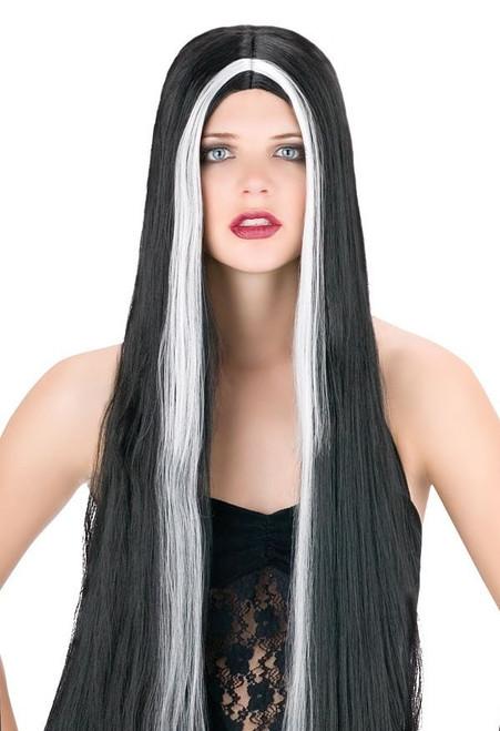 Longue perruque Vampire Streak