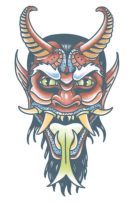 Tatouage de transfert démon