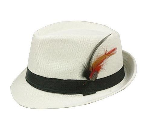Blanche Adulte Fedora Hat