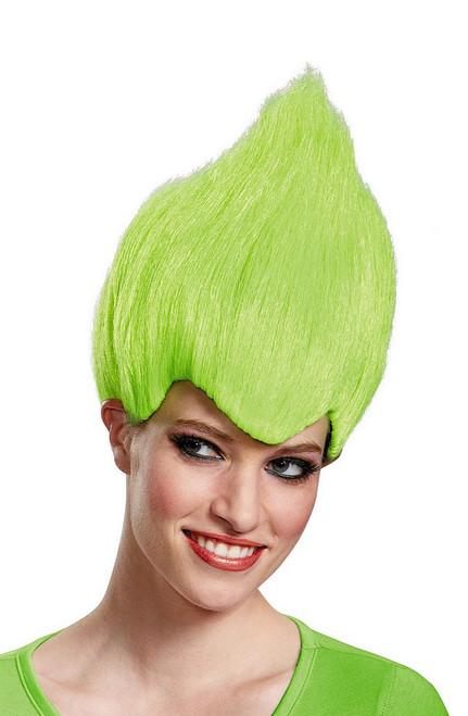 Trolls vert Wacky perruque
