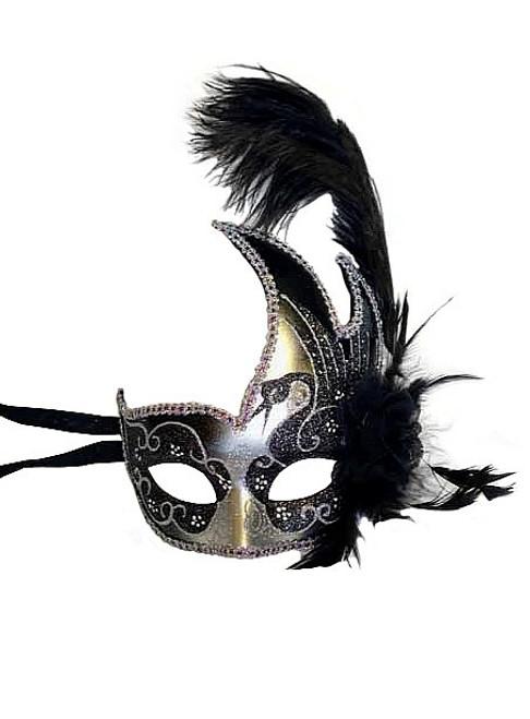 Masque vénitien avec plumes