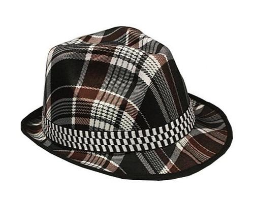 Plaid Hat Fedora adulte