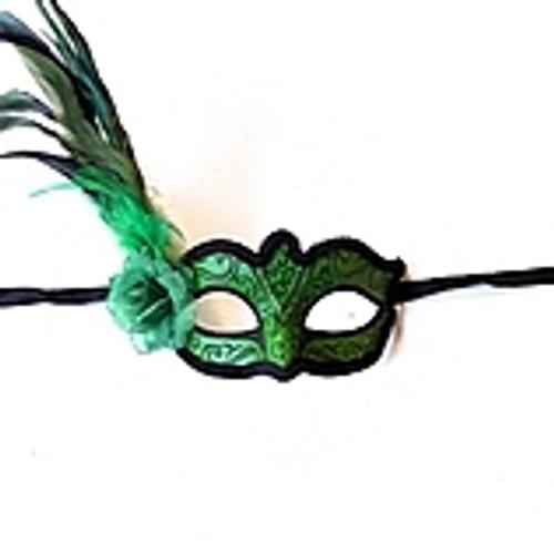 Masque vénitien vert