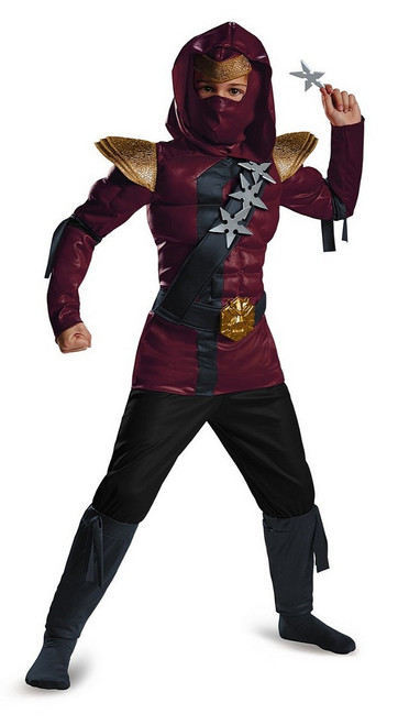 Ninja Muscle Rouge Costume