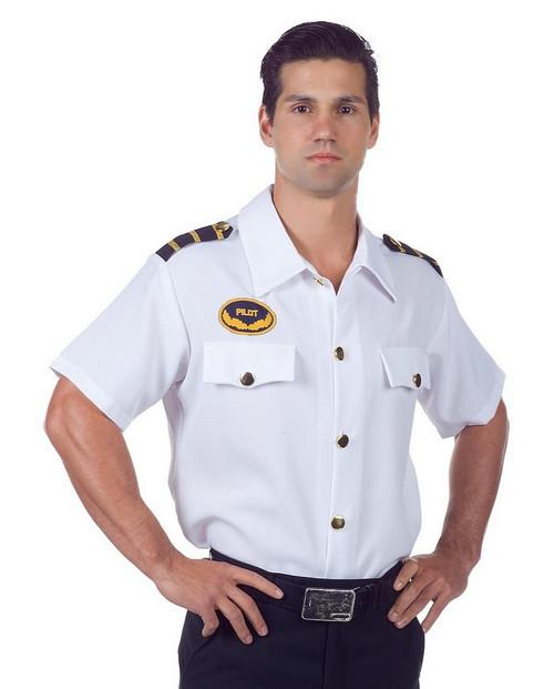 Chemise Blanche de pilote pour Homme