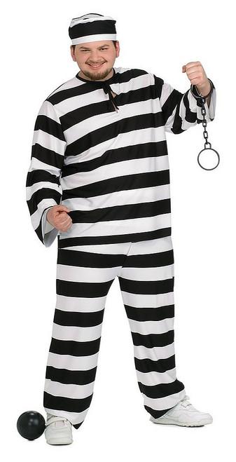 Condamné Echappé Prisonnier Costume