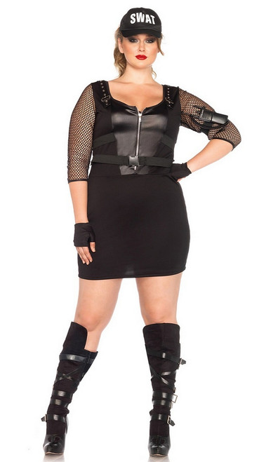Officier de Swat Plus Size Costume